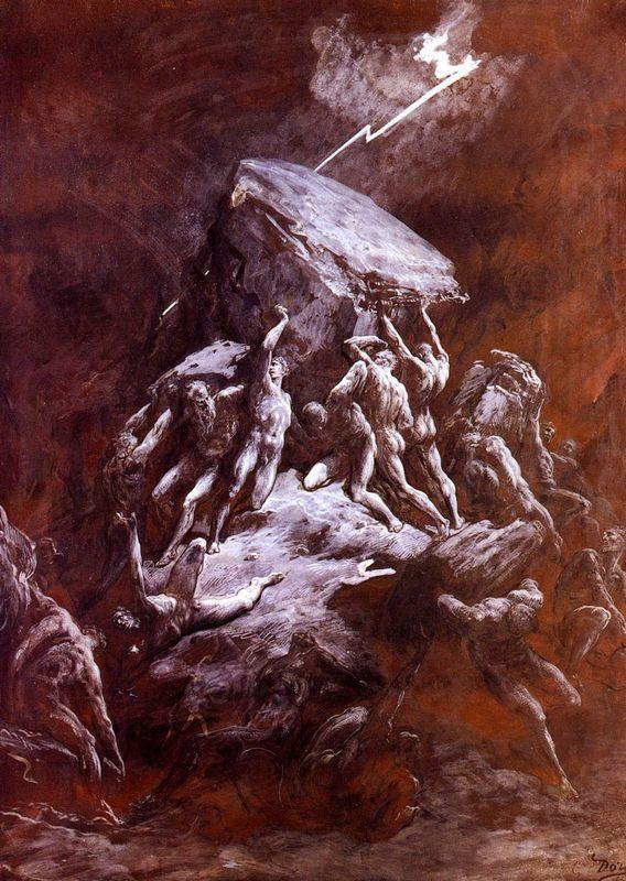 The Clash Of the Titans - Gustave Dore