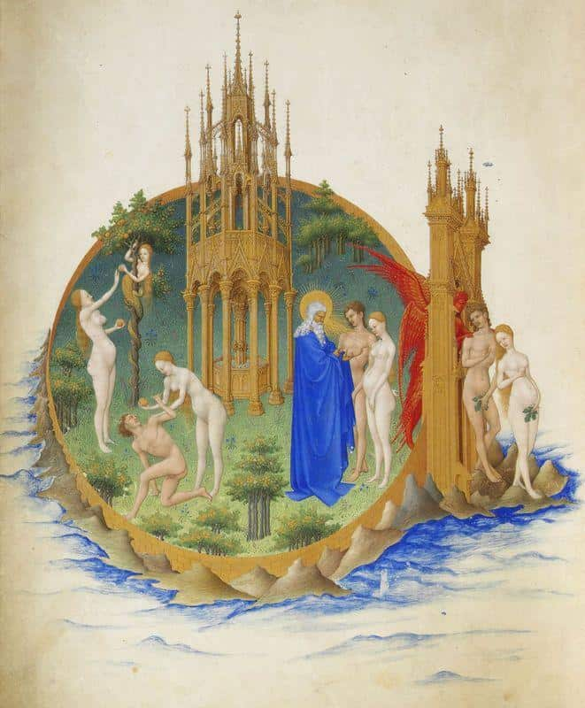 The Fall and The Expulsion From Paradise - Limbourg Brothers