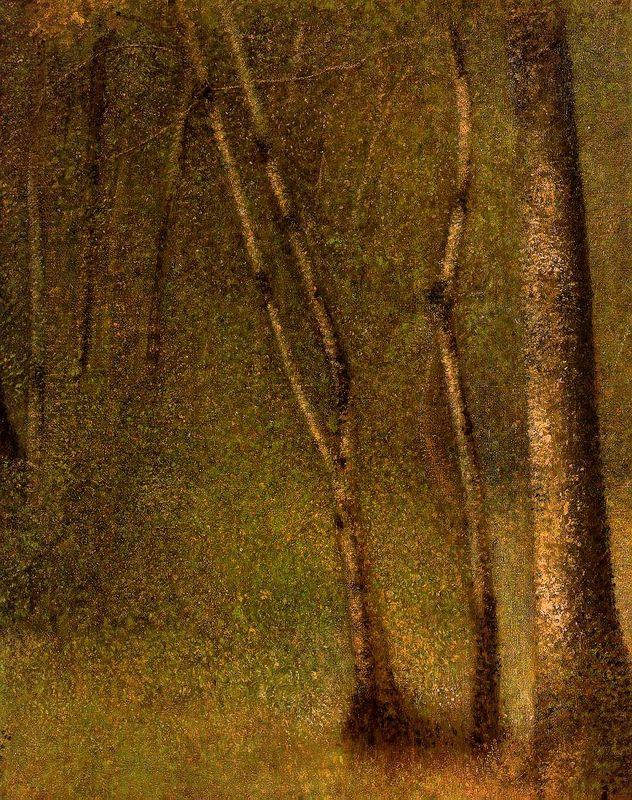 The Forest At Pontaubert - Georges Seurat