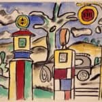 The gas station (study for the city) – Fernand Leger