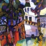 The gate with a tower. New Jerusalem – Aristarkh Lentulov