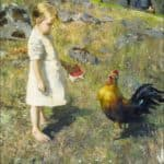 The girl and the rooster  – Akseli Gallen-Kallela