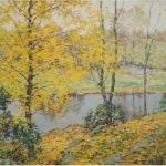 The Golden Screen – Willard Metcalf