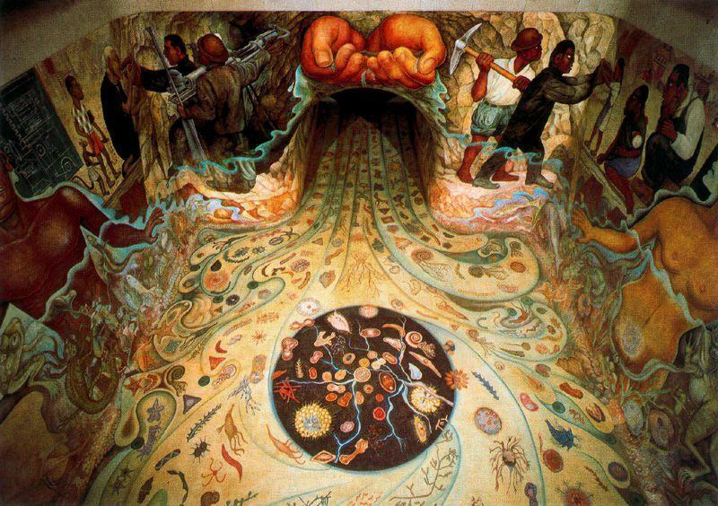 The Hands of Nature Offering Water - Diego Rivera