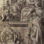 The Holy Family with Sts. Anthony Abbot, Catherine and the Infant St. John – Agostino Carracci