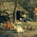The Hut (detail) – Adriaen van de Velde