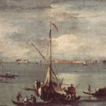 The Lagoon with Boats, Gondolas, and Rafts – Francesco Guardi