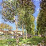 The Lane of Poplars at Moret Sur Loing – Alfred Sisley