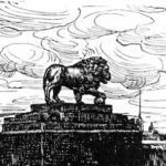 The Lion and the fortress. Woodcut for the magazine 'World'. – Anna Ostroumova-Lebedeva