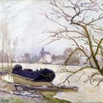 The Loing at High Water – Alfred Sisley