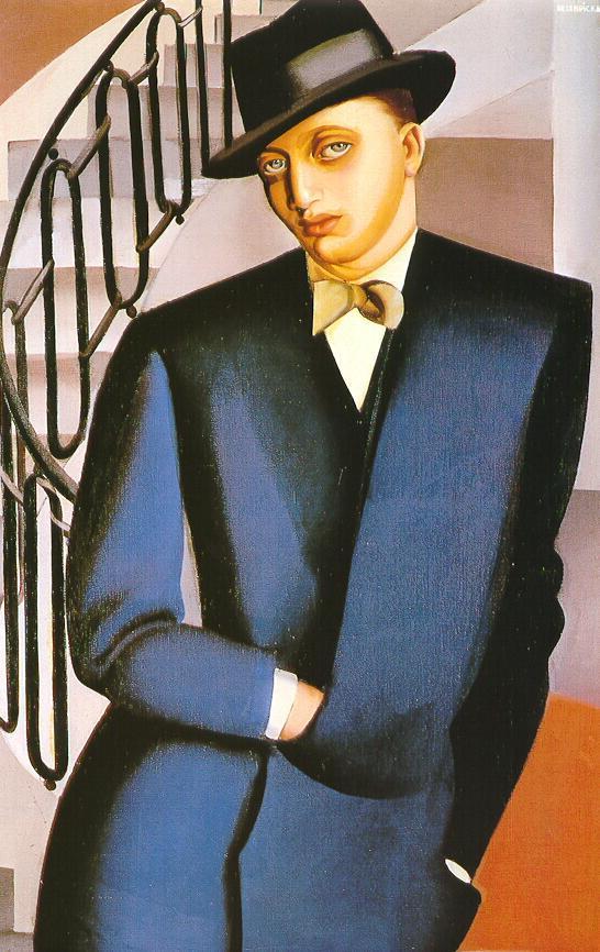 The Marquis D'Afflitto on a Staircase – Tamara de Lempicka