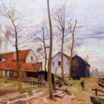 The Mills of Moret, Sunrise – Alfred Sisley