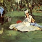 The Monet Family In Their Garden At Argenteuil – Edouard Manet