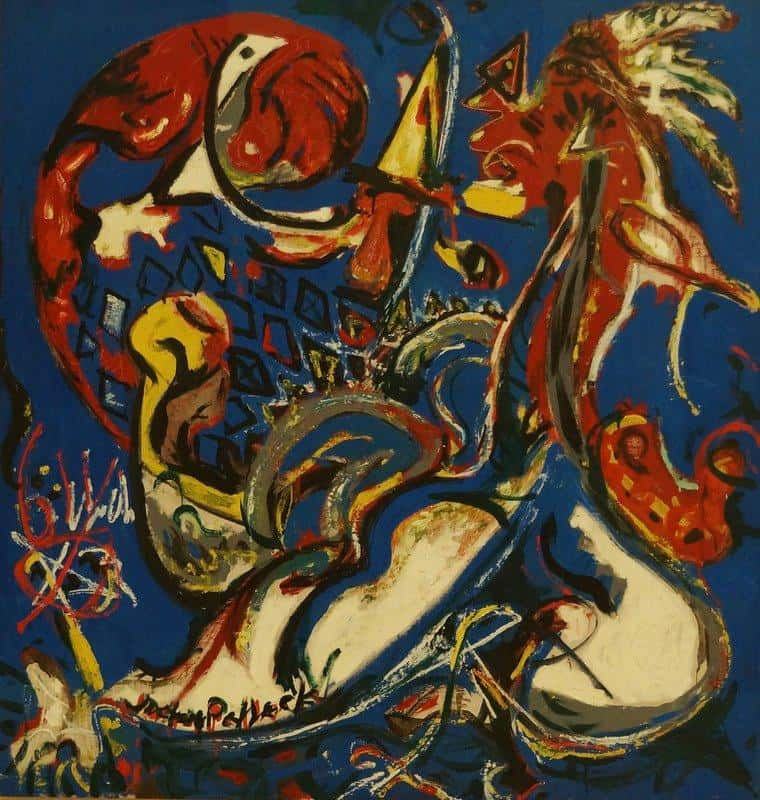 moon woman cuts the circle - Jackson Pollock