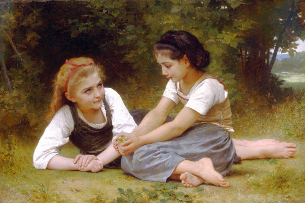 The Nut Gatherers - William-Adolphe Bouguereau