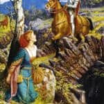 The Overthrowing of the Rusty Knight – Arthur Hughes