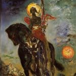 The Park and The Angel of Death - Gustave Moreau