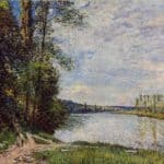 The Path from Veneux to Thomery along the Water, Evening – Alfred Sisley
