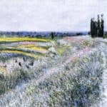 The Plain at Gennevilliers, Group of Poplars – Gustave Caillebotte
