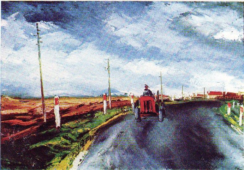 The Red Tractor - Maurice de Vlaminck