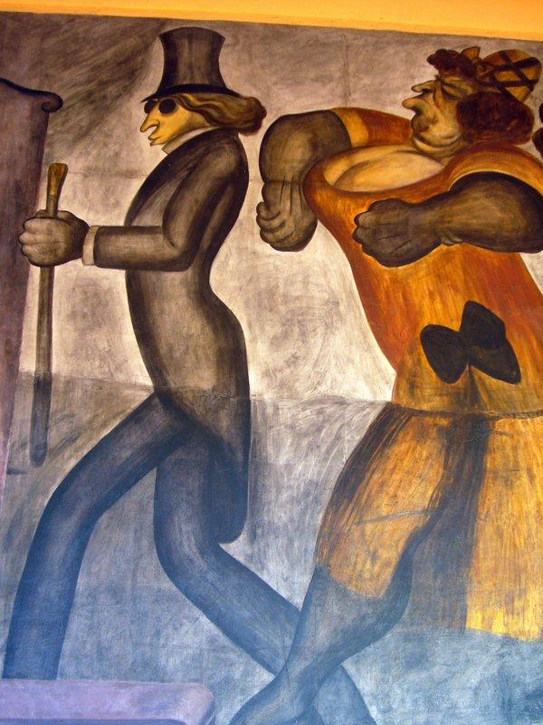 The Rich People (detail) - Jose Clemente Orozco