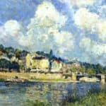 The River at Saint Cloud – Alfred Sisley