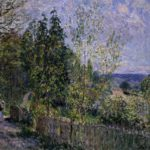 The Road in the Woods – Alfred Sisley