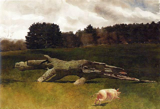 The Runaway Pig - Jamie Wyeth