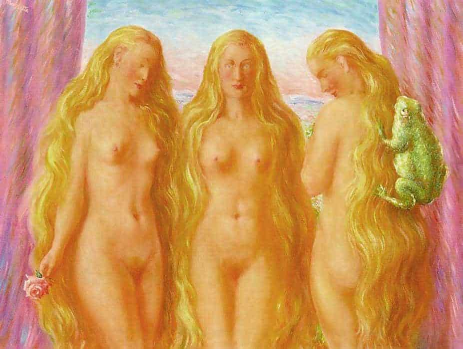 The Sea Of Flames - Rene Magritte