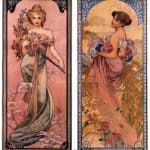 The seasons (Spring, Summer) – Alphonse Mucha