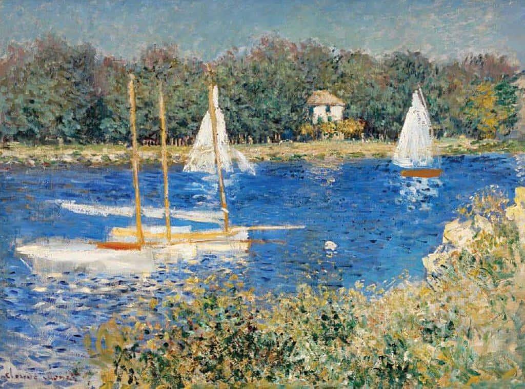 The Seine At Argenteuil - Claude Monet
