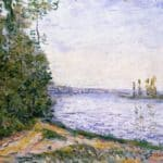 The Seine near By – Alfred Sisley