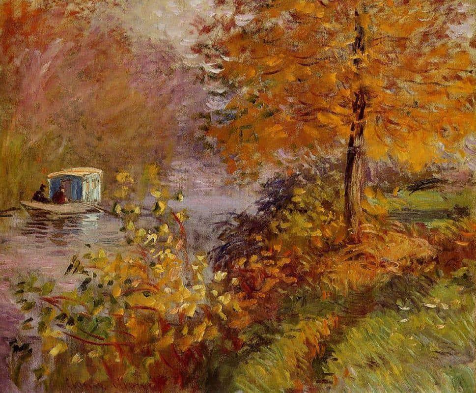 The Studio Boat – Claude Monet - 1876