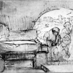 The three Marys at the tomb – Rembrandt