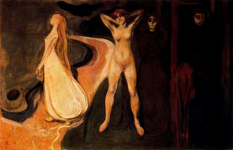 The Three Stages of Woman (Sphinx). - Edvard Munch