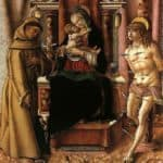 The Virgin and Child with Saints Francis and Sebastian – Carlo Crivelli
