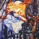 The weaver (loom+woman) – Natalia Goncharova