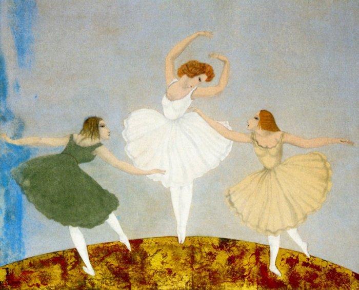 Three Ballerinas - Tsuguharu Foujita
