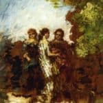 Three Friends – Adolphe Joseph Thomas Monticelli