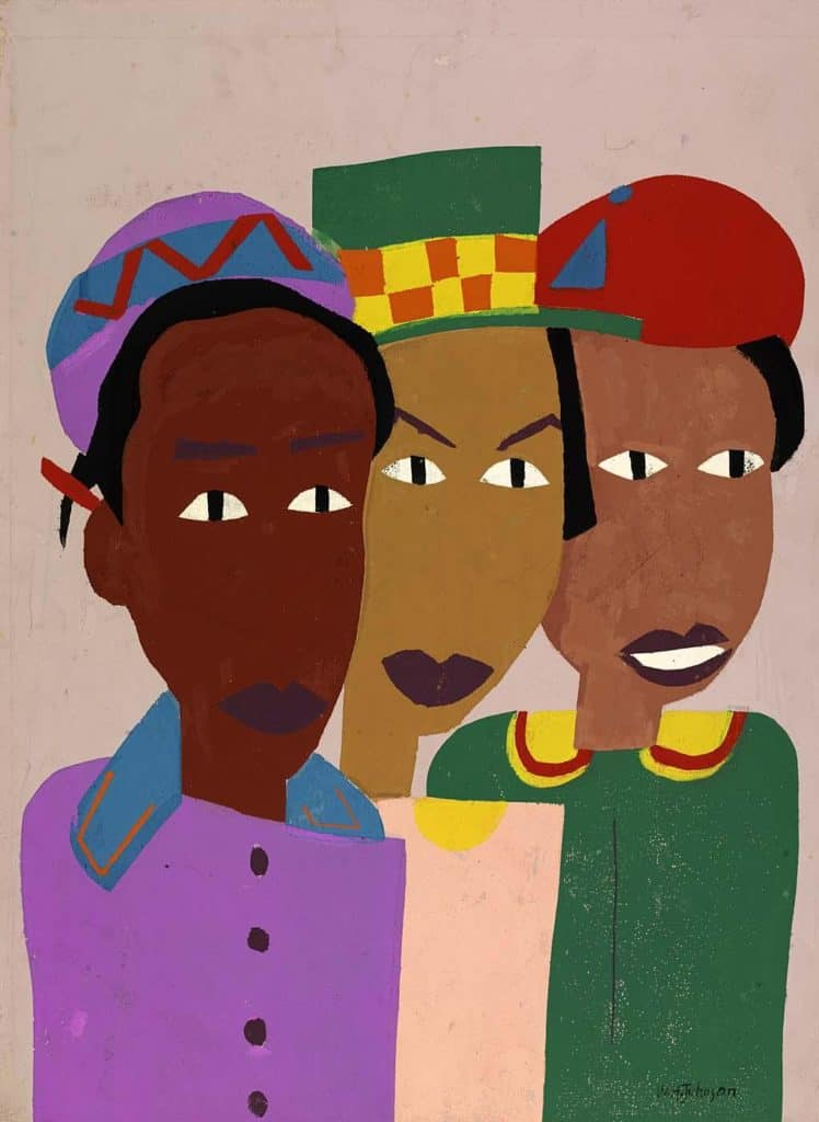 Three Friends - William H. Johnson