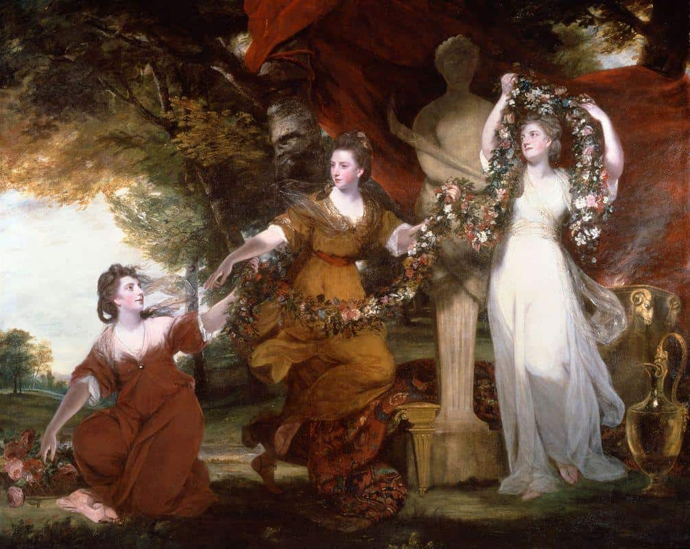 Three Ladies Adorning A Term Of Hymen – Joshua Reynolds