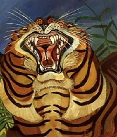 Tiger's Head - Antonio Ligabue