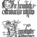 Title page to the edition of 1498 – Albrecht Durer