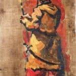 Triptych. Cossack with a fork. – Pyotr Konchalovsky