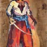 Triptych. Cossack with a saber. – Pyotr Konchalovsky