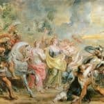 Truce between Romans and Sabinians – Peter Paul Rubens