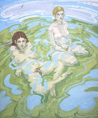 Two Figures (Twice) - Neil Welliver