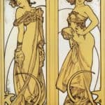 Two Standing Women – Alphonse Mucha