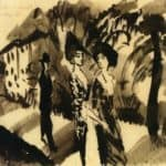 Two Women and a Man on an Avenue – August Macke