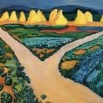 Vegetable fields – August Macke